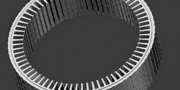 交流发电机铁芯